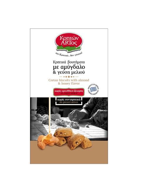 Cretan biscuits with almond & honey flavor (NO SUGAR ADDED)
